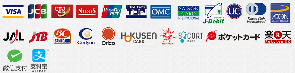 the following list of credit cards