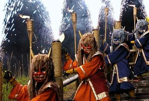 Onihanabi in the Valley of Hell (Fireworks of the Demon in the Valley of Hell)